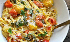 Vegan One Pot Caramelized Tomato Caprese Pasta – Pasta Recipes Vegetarian