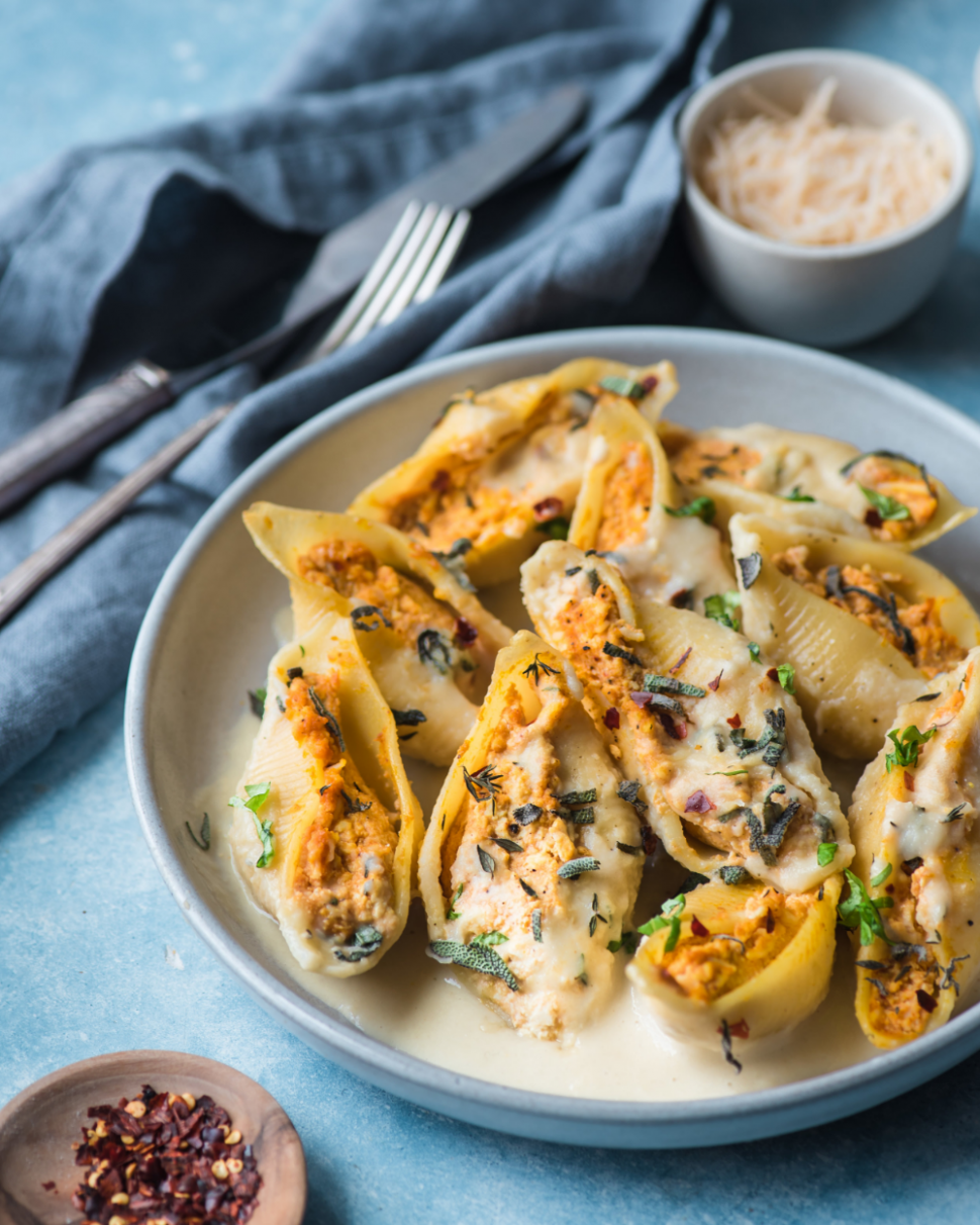 Vegan Pumpkin Ricotta Stuffed Shells — Rainbow Plant Life in ..