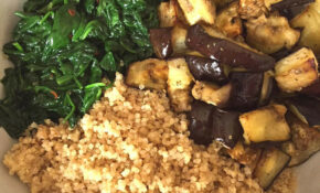 Vegan Quinoa Buddha Bowl With Eggplant And Spinach ..
