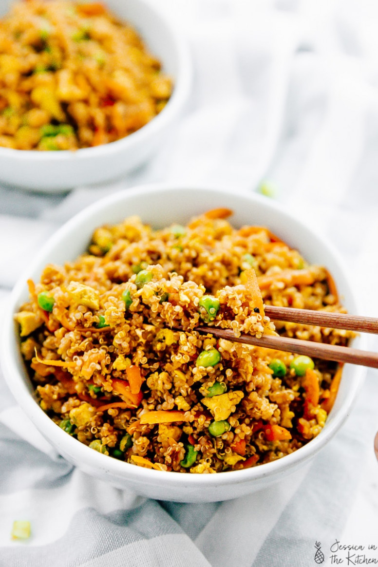 Vegan Quinoa Fried Rice - recipe vegetarian fried rice