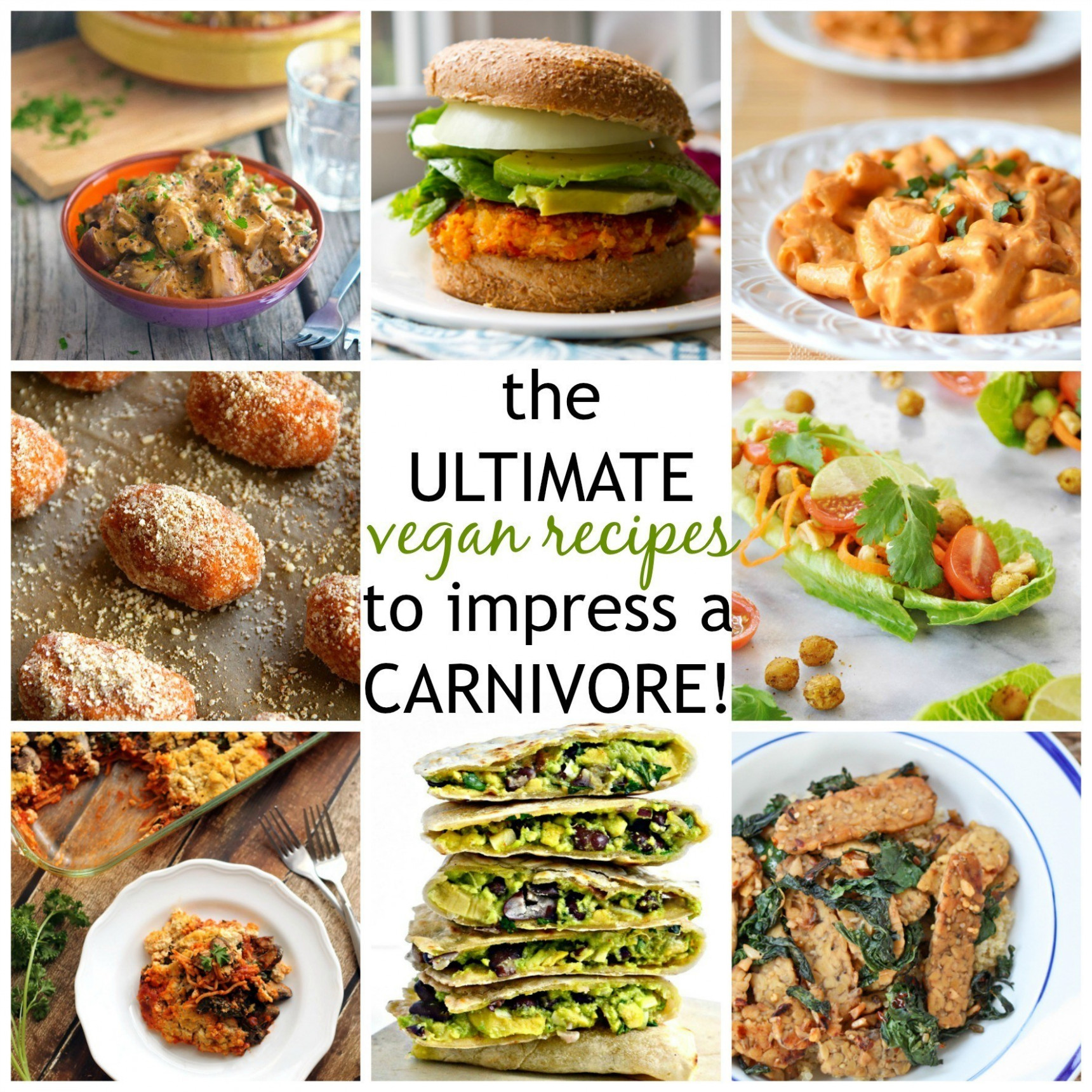 Vegan Recipes to Impress a Carnivore - dinner recipes to impress the in laws