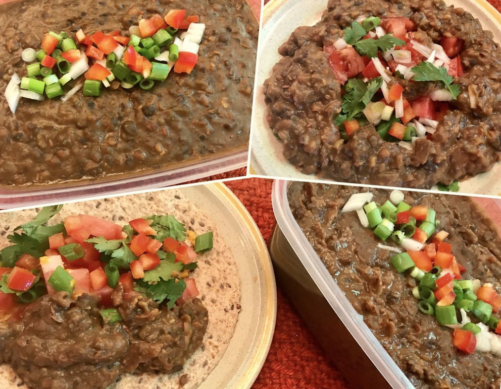 Vegan Refried Beans - mexican food recipes easy