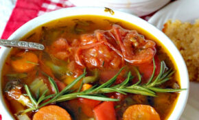 Vegan Roasted Tomato Basil Vegetable Soup – Vegetable Soup Recipes Vegetarian