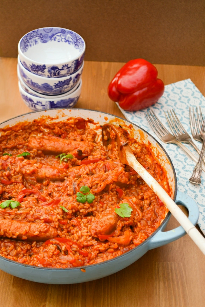Vegan Sausage, Red Pepper and Brown Rice Casserole Recipe ..