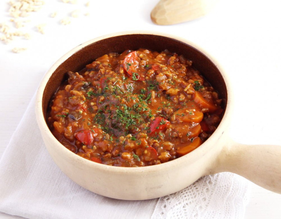 Vegan Soy Vegetable Stew - recipe vegetarian goulash