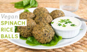 Vegan Spinach Rice Balls – High In Protein And Iron – Food Recipes High In Iron