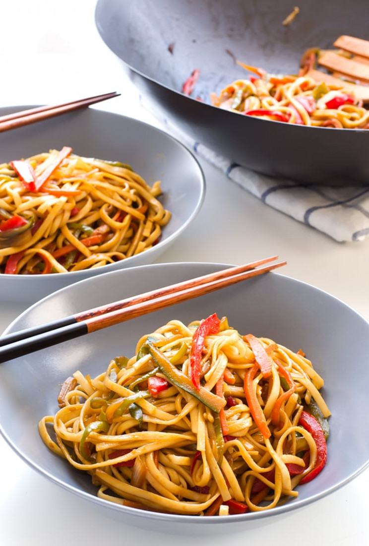 Vegan Stir Fried Udon Noodles - Simple Vegan Blog - noodle recipes vegetarian