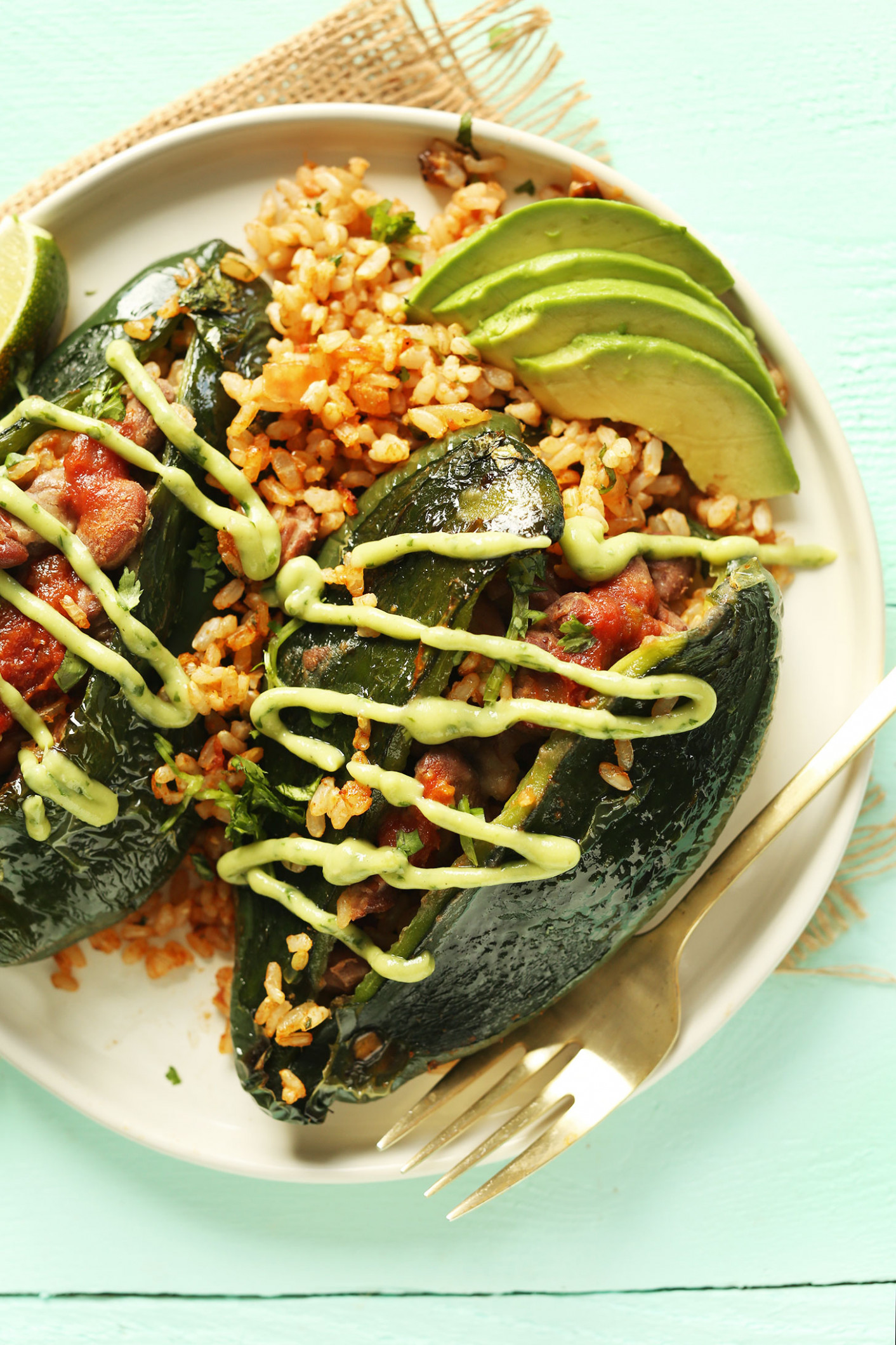 Vegan Stuffed Poblano Peppers - mexican dinner recipes