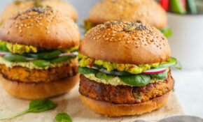 Vegan Sweet Potato Burger With Chickpeas & Spinach – Recipes Vegetarian Burger Patty