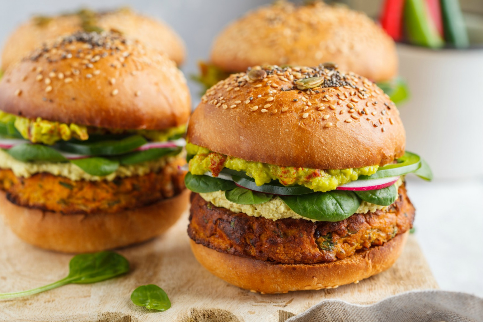 Vegan Sweet Potato Burger with Chickpeas & Spinach - recipes vegetarian burger patty