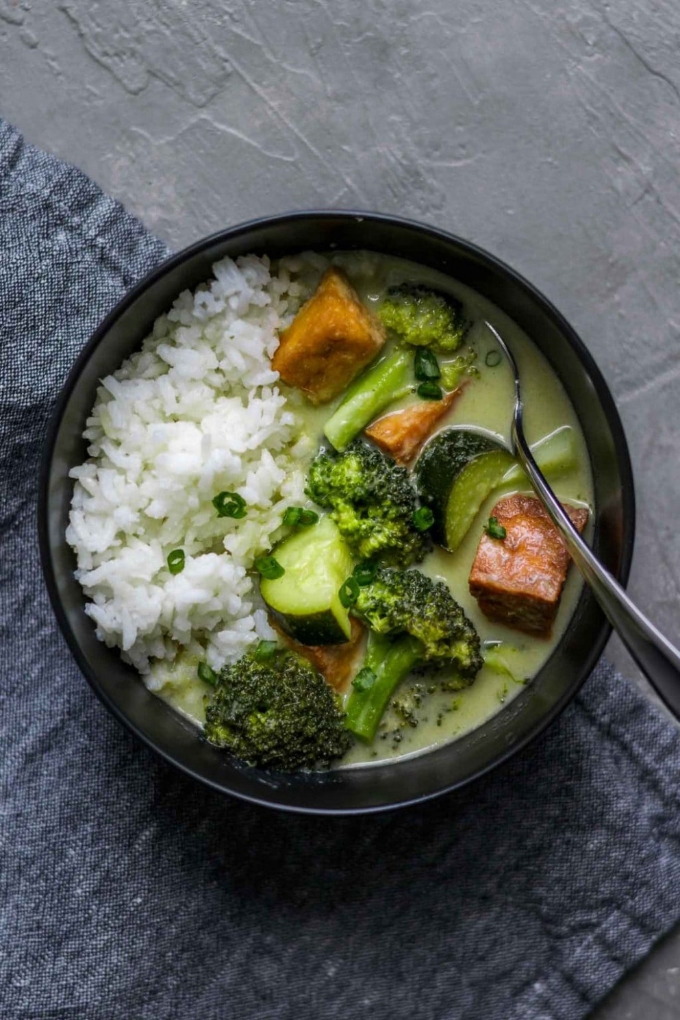 Vegan Thai Green Curry with Tofu • The Curious Chickpea - recipe vegetarian thai green curry