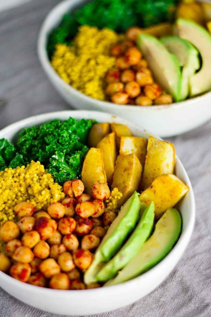 Vegan Turmeric Quinoa Power Bowls - quick vegan recipes dinner