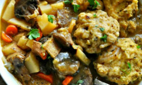 Vegan Winter Vegetable Stew With Cheesy Herb Dumplings – Recipes Vegetarian Winter