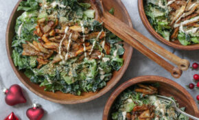 Vegan Xmas Menu: Delicious Caesar Salad as a Starter