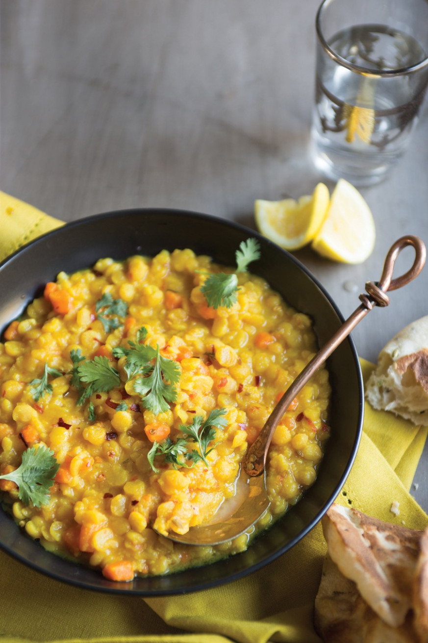 Vegan Yellow Split Pea Dal Recipe | Vegetarian Times - yellow split pea recipes vegetarian