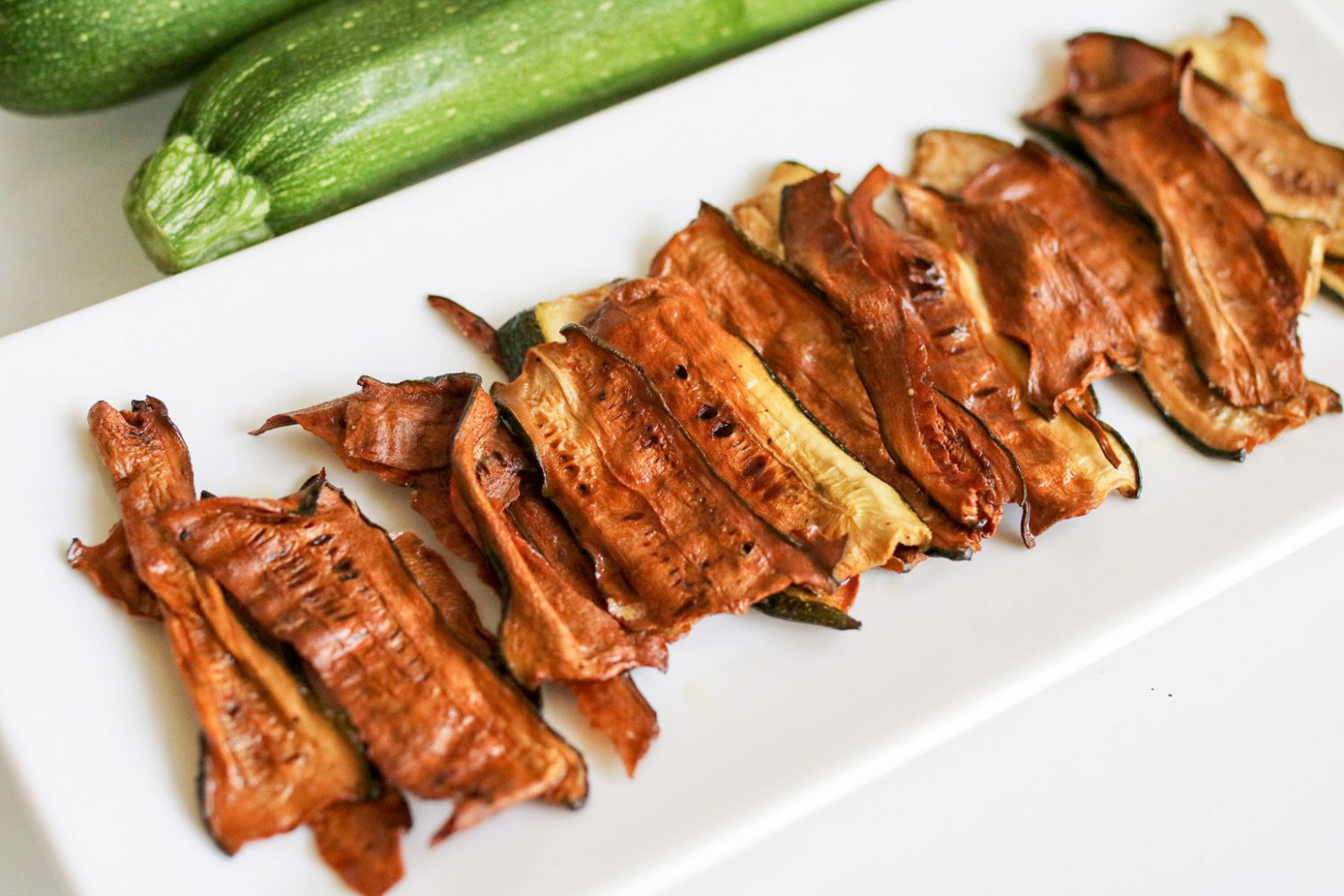 Vegan Zucchini Bacon - The Super Mom Life - zucchini recipes vegetarian