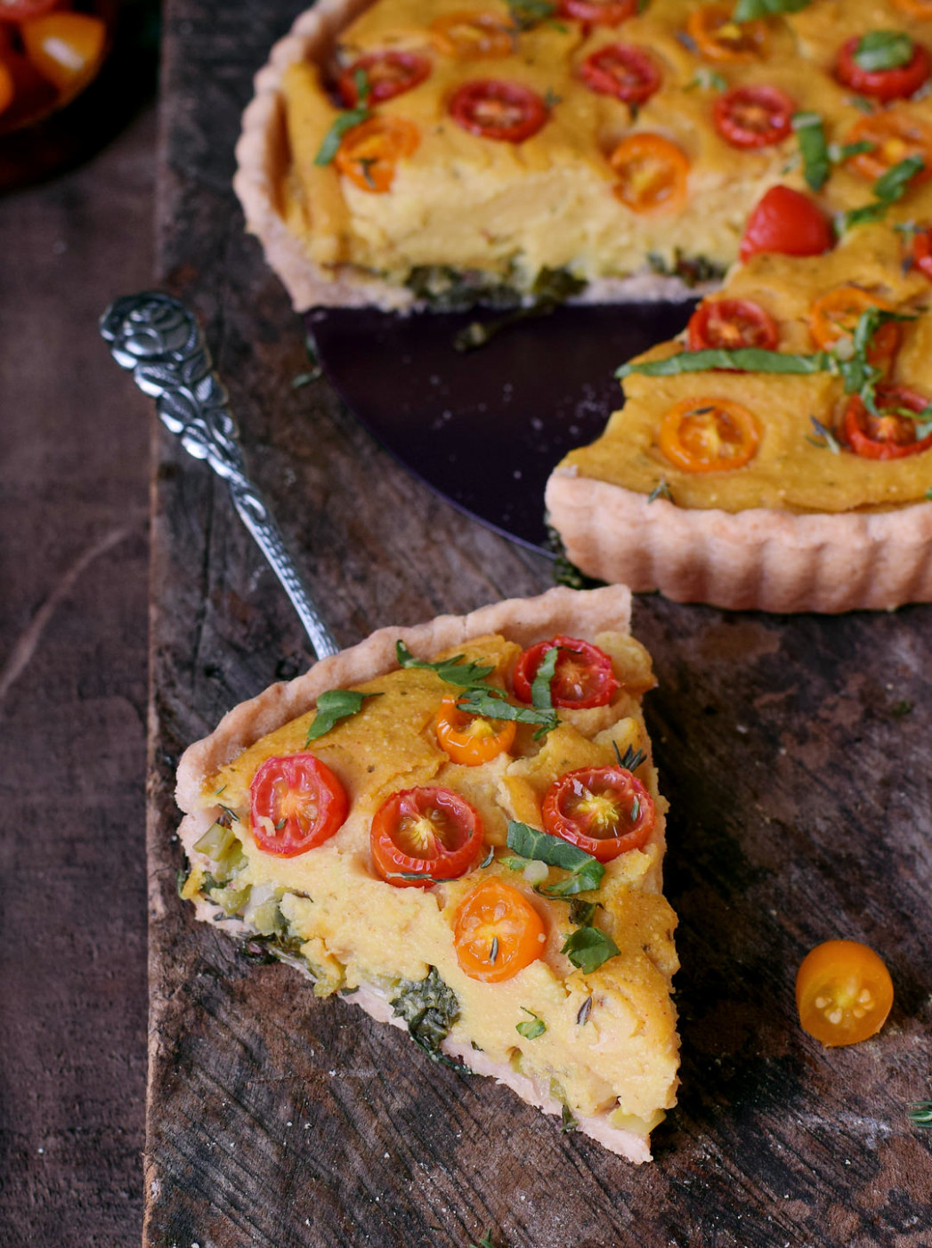 Vegane Quiche (Rezept ohne Ei und ohne Soja) - food recipes quiche