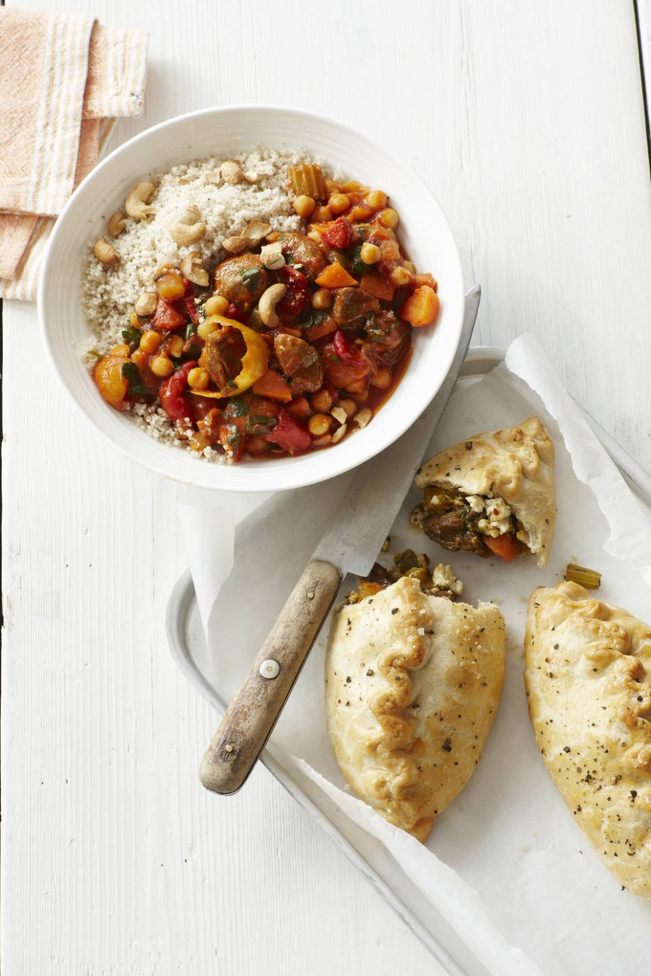 Vegetable and Chickpea Tagine With Couscous Recipe - tagine recipes vegetarian