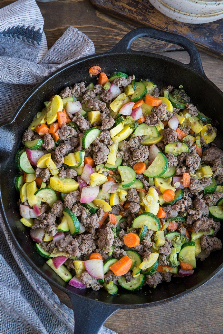 Vegetable and Ground Beef Skillet - recipes with mince healthy