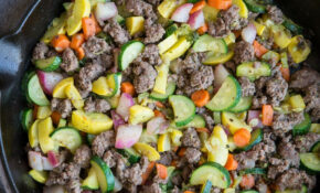 Vegetable And Ground Beef Skillet – Vegetarian Keto Diet Recipes