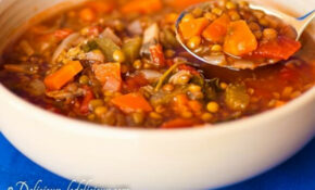 Vegetable And Lentil Soup Recipe – Recipes Lentil Soup Vegetarian