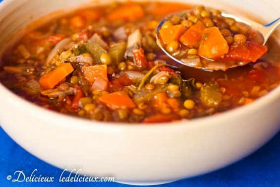 Vegetable and Lentil Soup recipe - recipes lentil soup vegetarian
