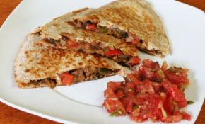 Vegetable And Refried Bean Quesadillas | Live. Learn. Love. Eat