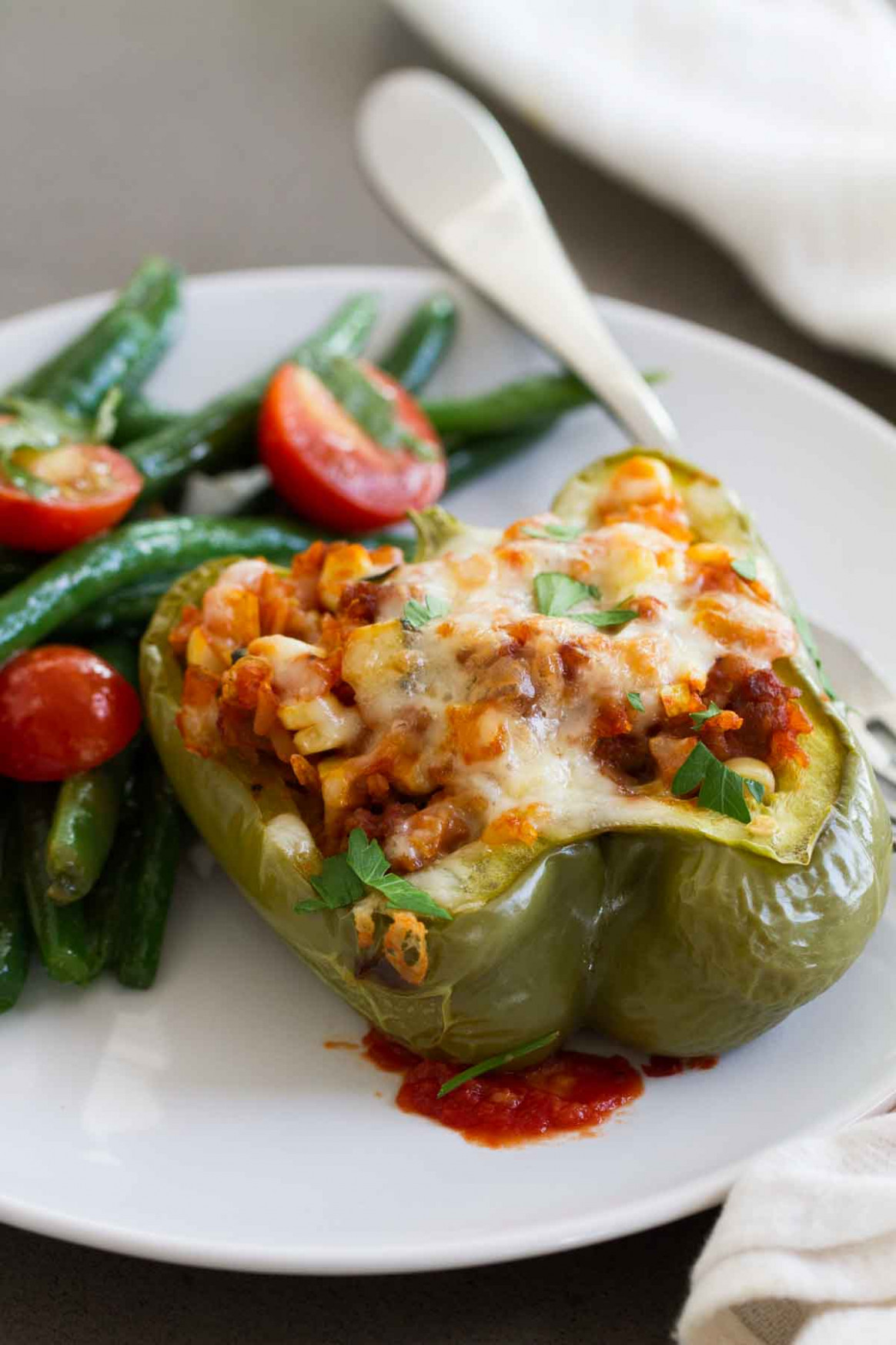 Vegetable And Sausage Stuffed Peppers - Recipes Vegetarian Stuffed Peppers