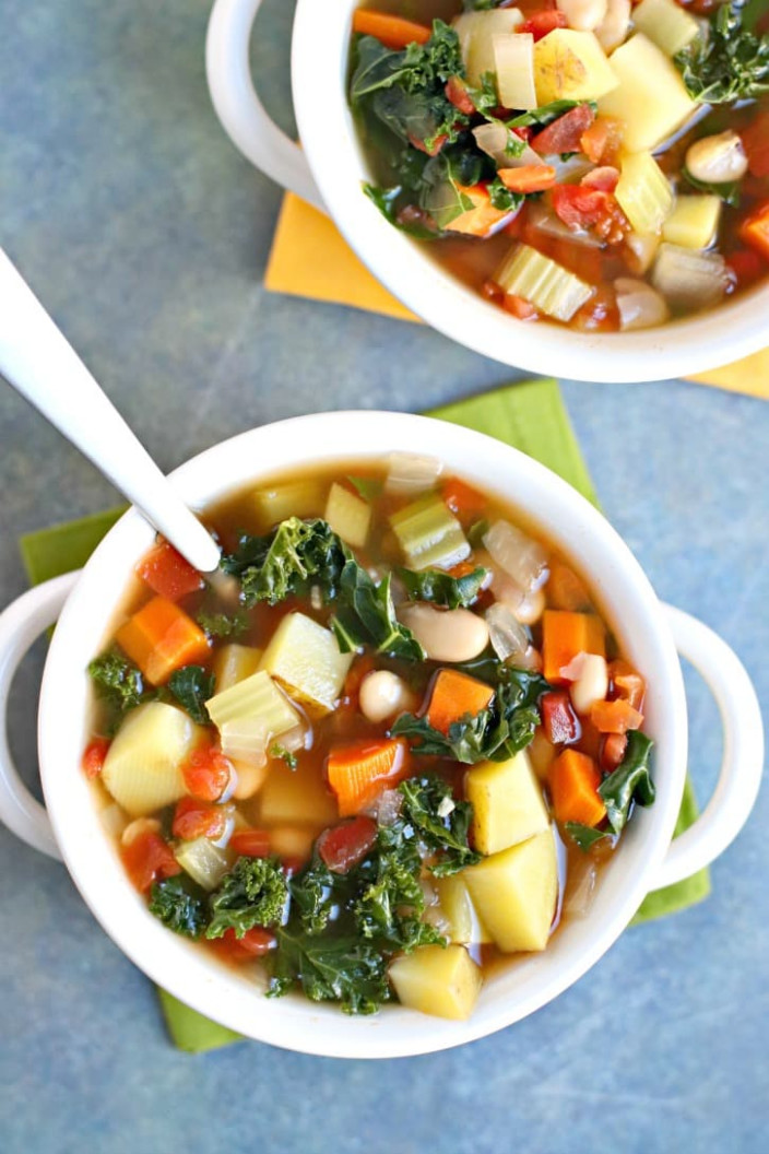 Vegetable Bean Soup (Oil-Free) - Veggies Save The Day - recipes vegetarian bean soup