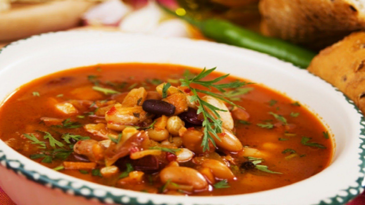 Vegetable & Bean Soup Recipe | How to Make Vegetable and ..