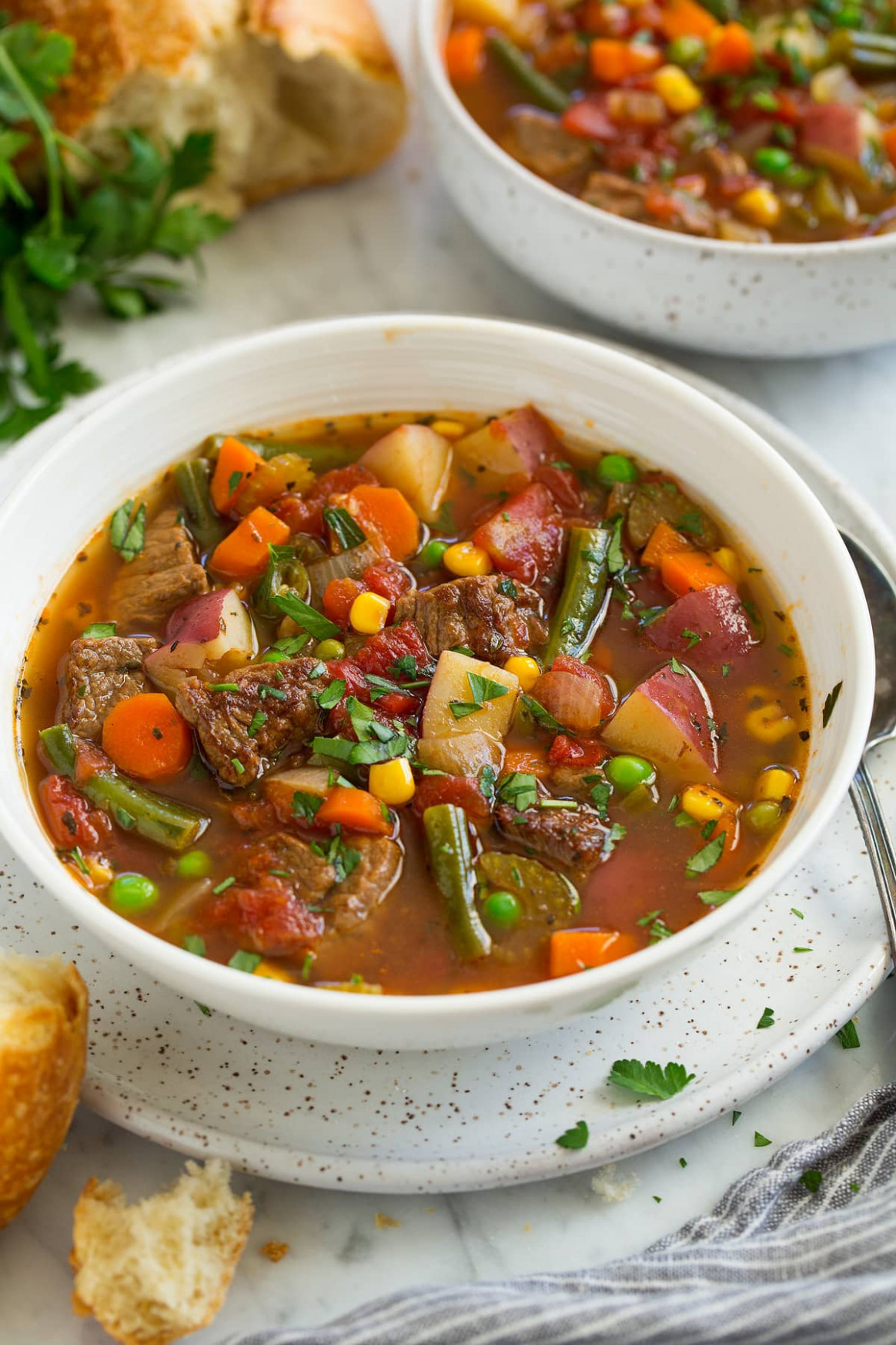 Vegetable Beef Soup - Best Homemade Chicken Vegetable Soup Recipes
