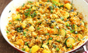 Vegetable Carrot Fried Rice – Carrot Veggie Turmeric Pilaf ..