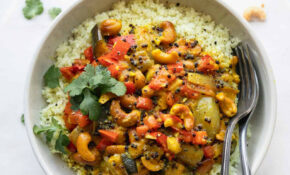 Vegetable Cashew Curry + Cauliflower Rice – The Toasted Pine Nut – Vegetarian Recipes With Rice And Vegetables