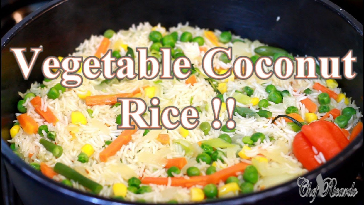 Vegetable Coconut Rice Sunday Dinner (Jamaican Cooking) | Recipes By Chef  Ricardo - jamaican recipes vegetarian