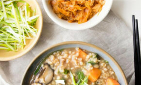 Vegetable Congee (GF, Vegan Recipe) (Rice Porridge) | The ..