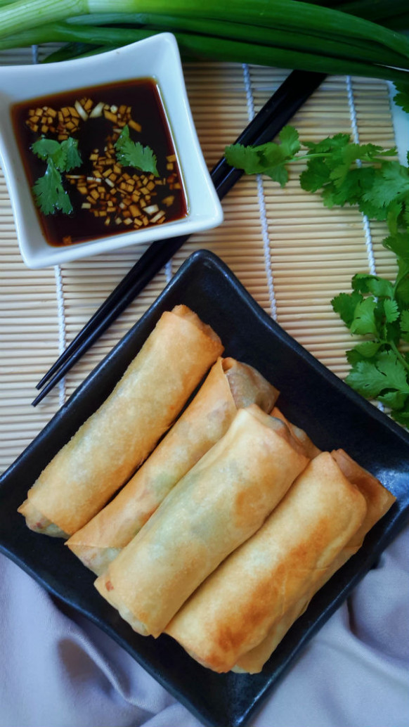 Vegetable Egg Rolls | Cilantro and Citronella - recipe vegetarian egg rolls