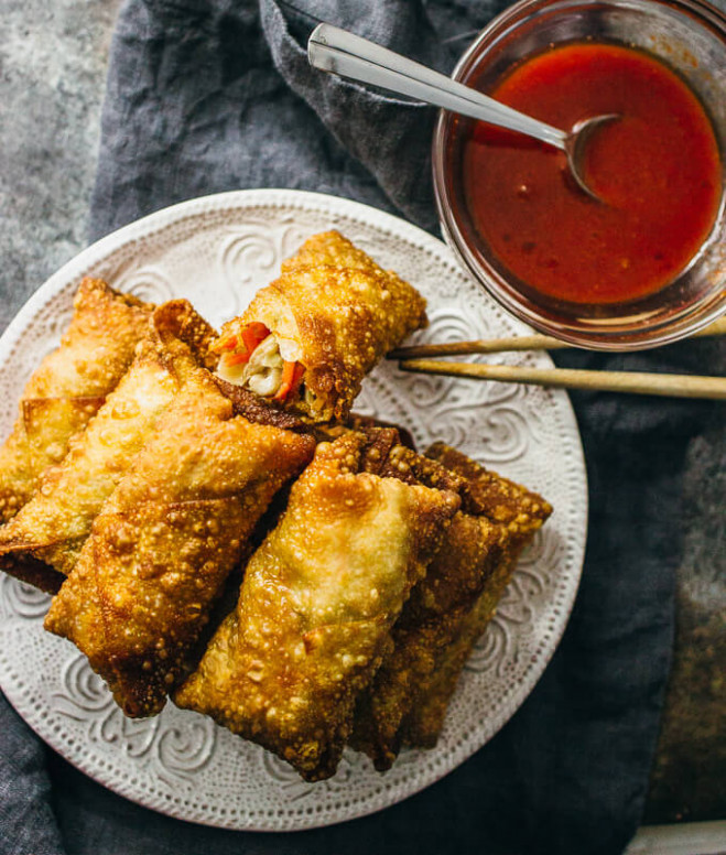 Vegetable Egg Rolls Recipe - Savory Tooth - recipe vegetarian egg rolls