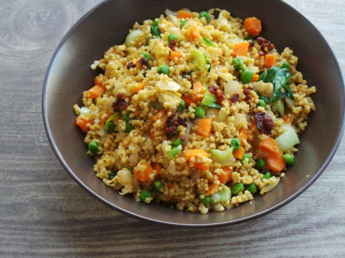 Vegetable Fried Millet (Vegetarian and Gluten-Free ..