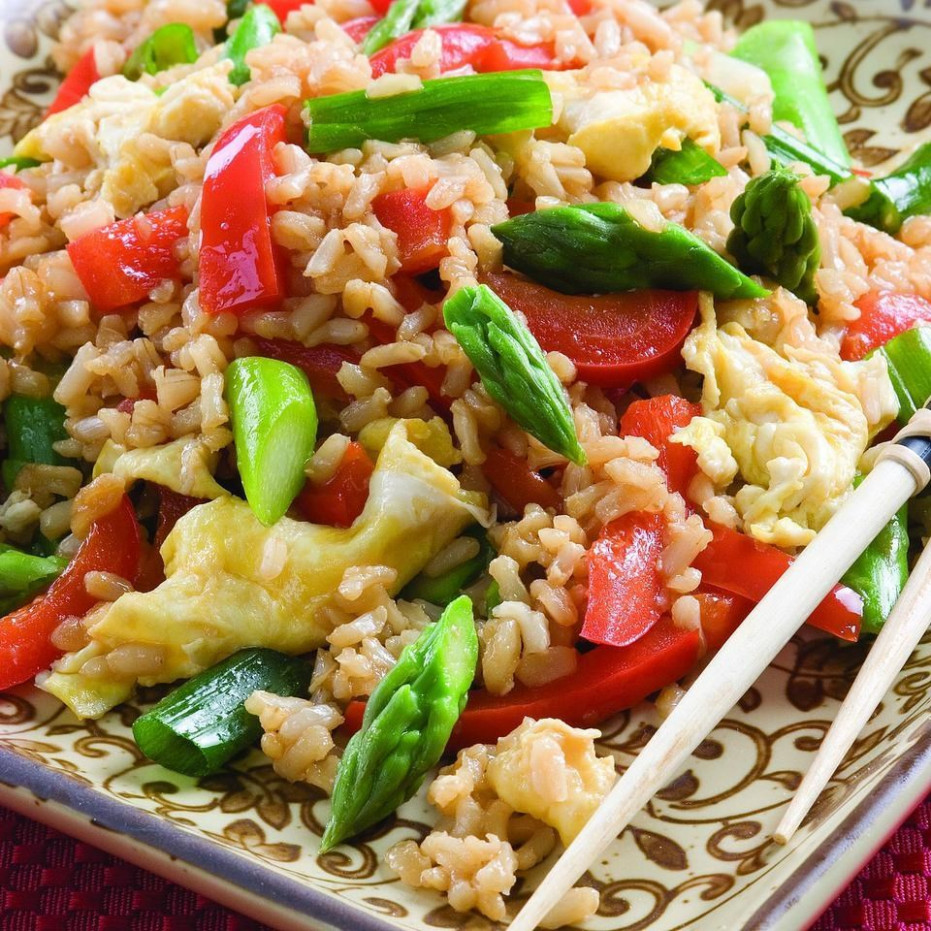 Vegetable Fried Rice Recipe - EatingWell - vegetarian recipes with rice and vegetables