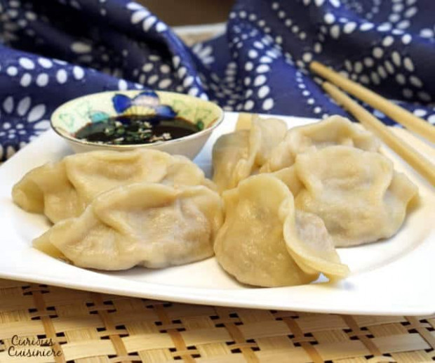 Vegetable Jiaozi (Chinese Dumplings) • Curious Cuisiniere - recipe vegetarian dumplings chinese