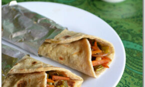Vegetable Kathi Roll Recipe – Kati Roll Recipe | Easy ..