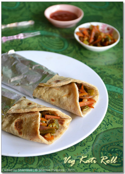 Vegetable Kathi Roll Recipe - Kati Roll Recipe | Easy ..