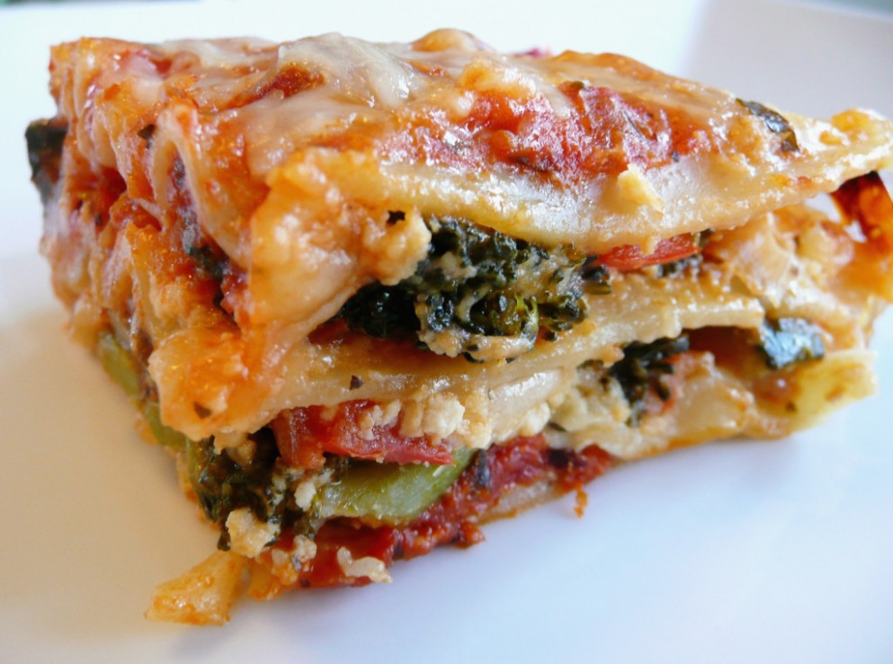 Vegetable Lasagna | Feeding My Folks - Recipes Vegetarian Lasagne