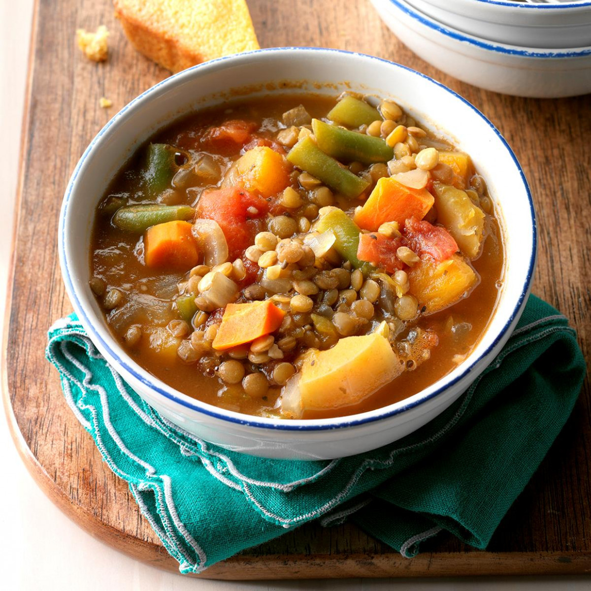Vegetable Lentil Soup Recipe | Taste Of Home - Recipes Lentil Soup Vegetarian