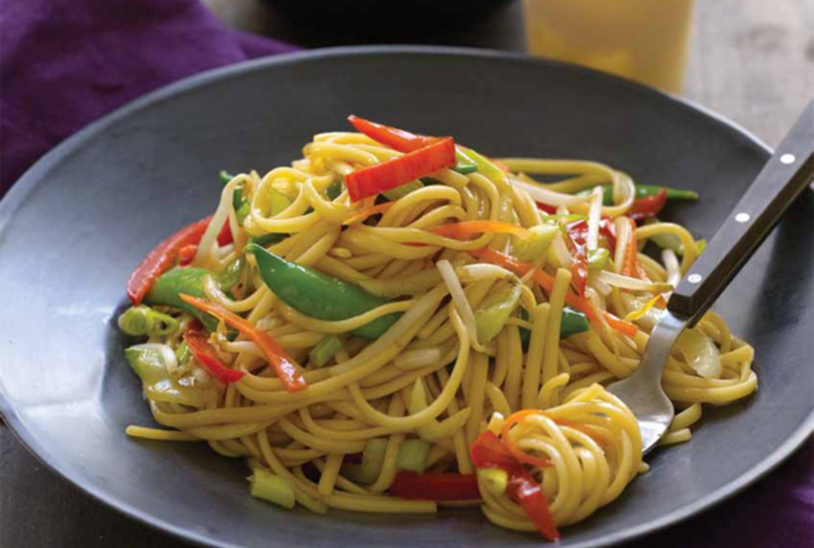 Vegetable Lo Mein - Jamie Geller - stir fry recipes vegetarian