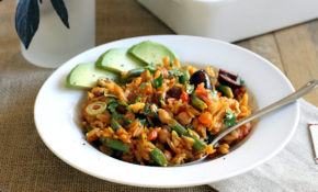 Vegetable Orzo Paella – Two Of A Kind – Orzo Recipes Vegetarian