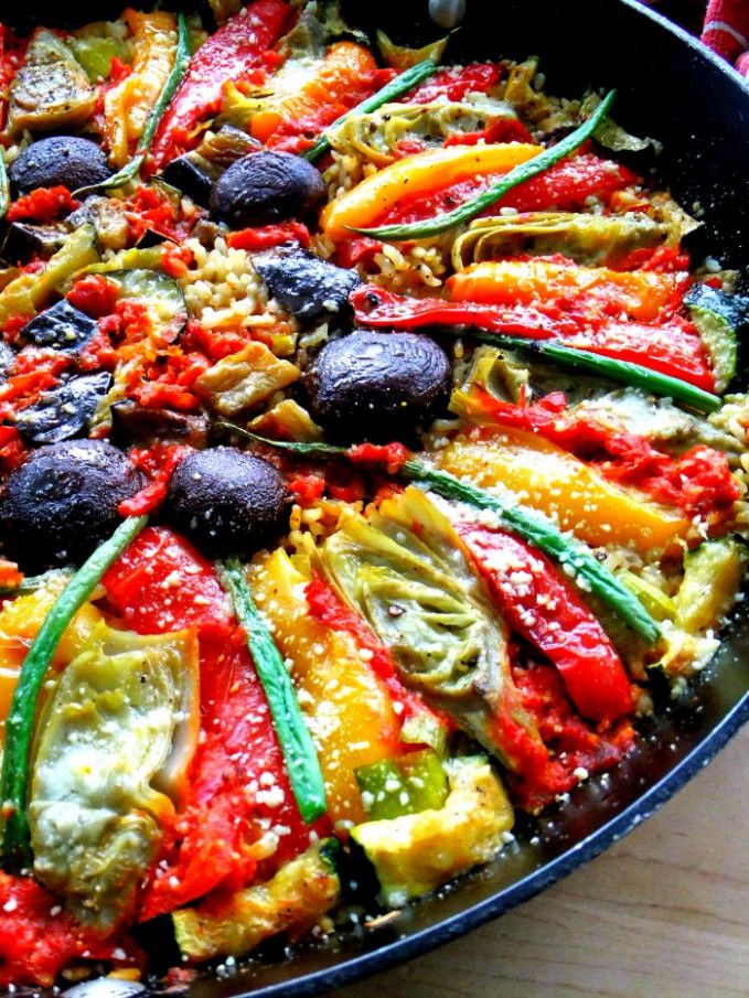 Vegetable Paella, Italian Style - Proud Italian Cook - recipes vegetarian italian