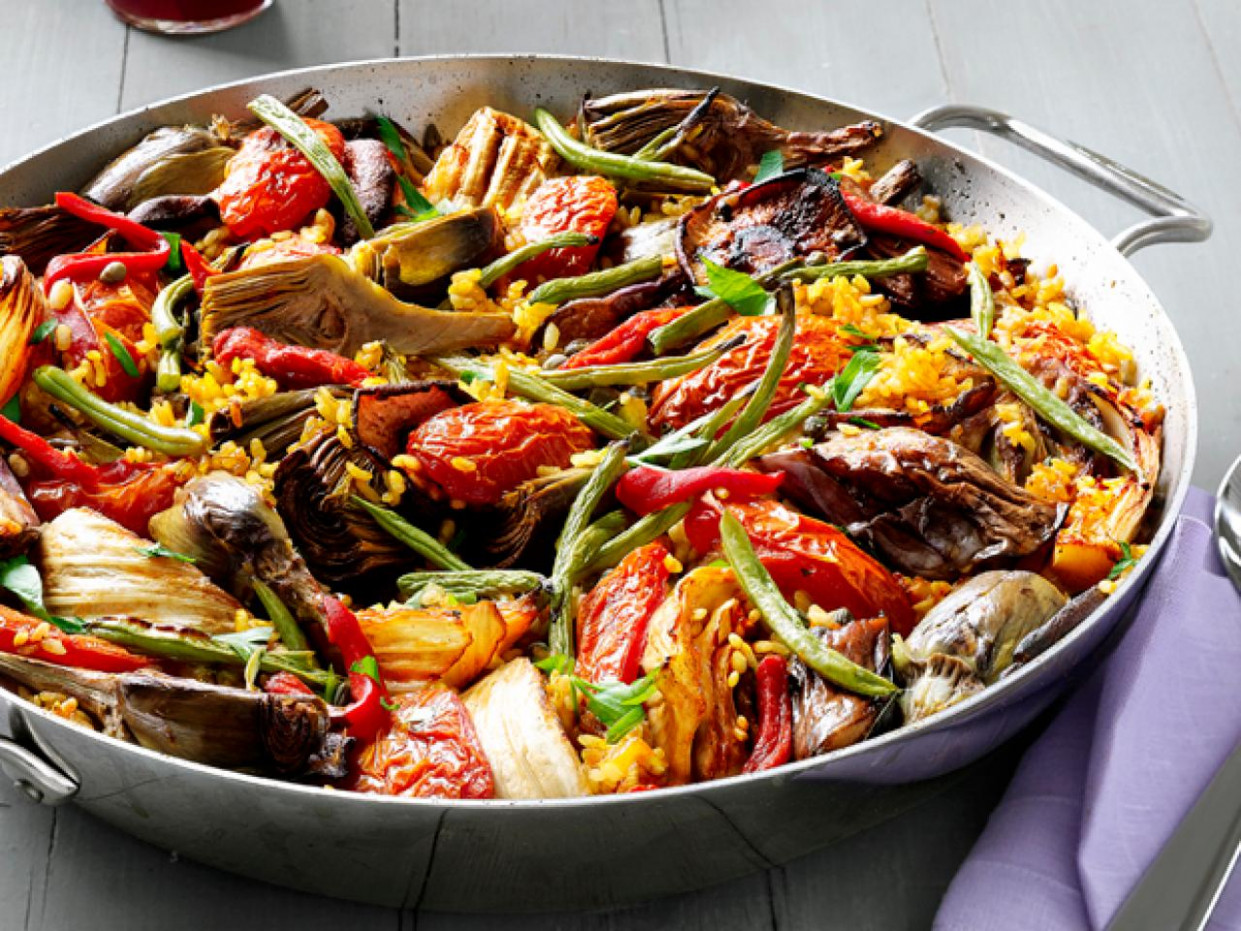 Vegetable Paella — Meatless Monday | FN Dish - Behind The ..