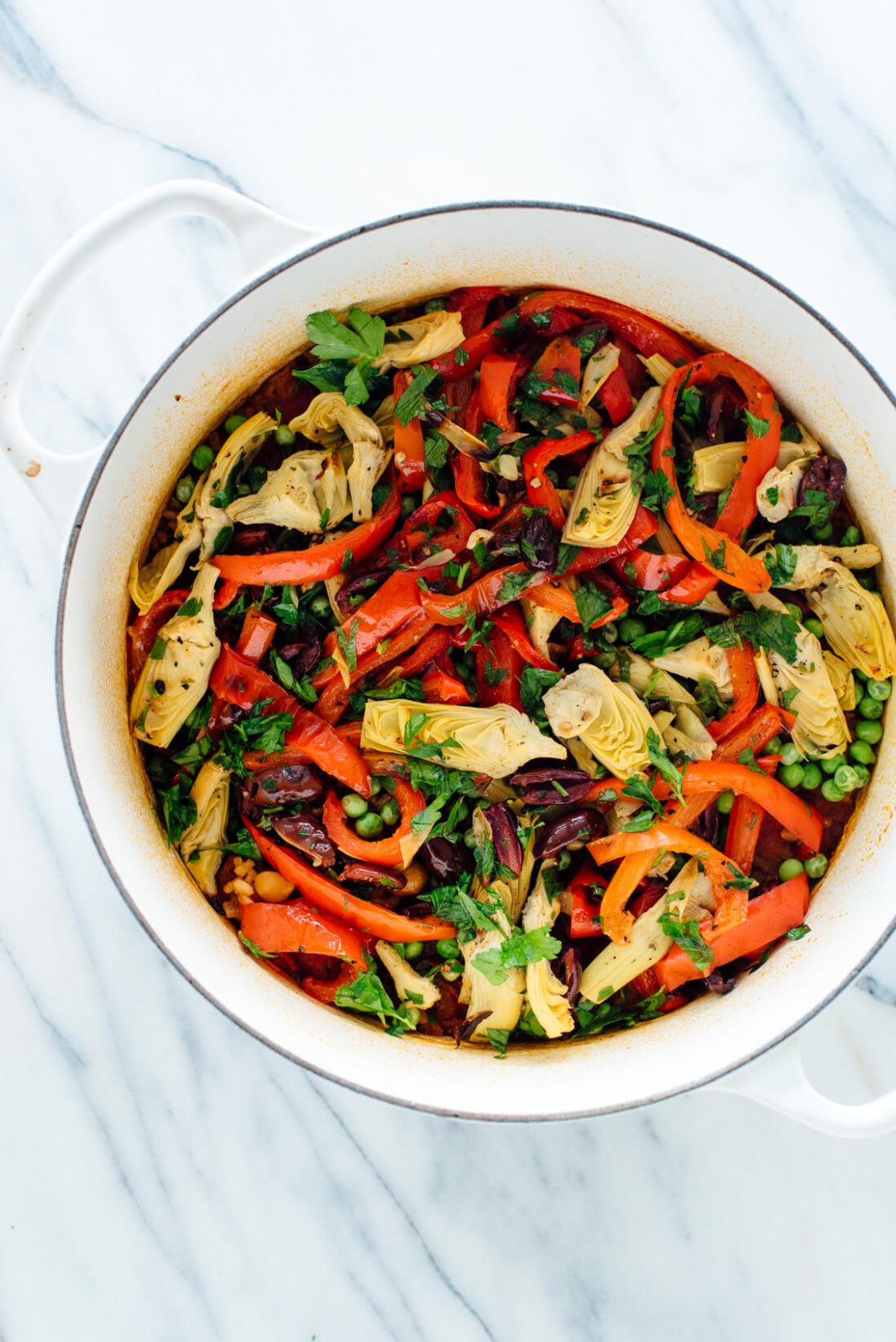 Vegetable Paella Recipe - Cookie and Kate - vegetarian recipes oven