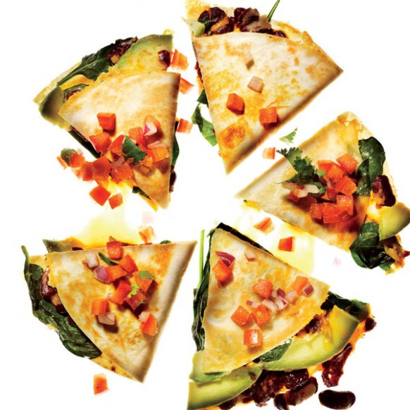 Vegetable Quesadillas with Fresh Salsa recipe | Epicurious